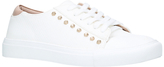 Carvela Jolt Stud Embellished Lace Up Trainers, White