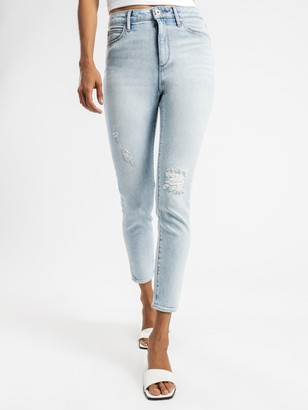 Articles of Society High Rise Lisa Ankle Hug Jeans in Light True Blue