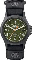 Timex Expedition Men's TW4B00100 Quartz Watch with Green Dial Analogue Display and Black Nylon Strap