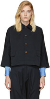 Comme des Garcons Navy Cropped Jacket