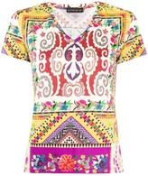 Etro geometric print V-neck T-shirt