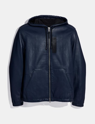 Coach Hooded Leather Jacket