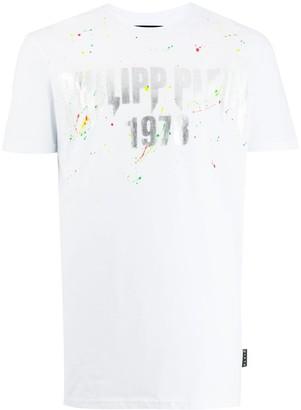 Philipp Plein paint splatter effect T-shirt