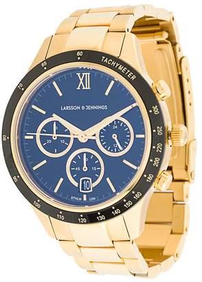 Larsson & Jennings engraved logo chain strap watch