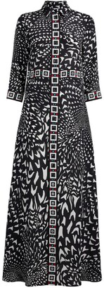 Hayley Menzies Wings Silk Shirt Dress