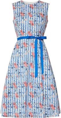 Gina Bacconi Cardella Jacquard Dress