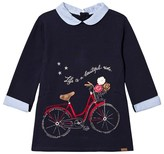 Mayoral Navy Bike Embroidered and Applique Sweat Dress