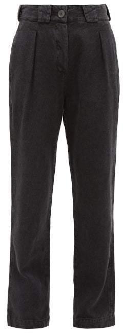 Mara Hoffman Jade High-rise Straight-leg Jeans - Womens - Black