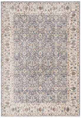 Lauren Ralph Lauren Helena Oriental Ivory/Blue Area Rug Rug Size: Rectangle 4' x 6'