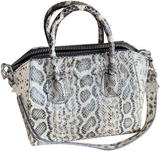 Givenchy Antigona Grey Python Handbags