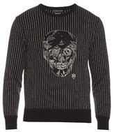 Alexander McQueen Embroidered-skull long-sleeved sweatshirt