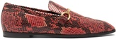 Stella McCartney Python-effect faux-leather loafers