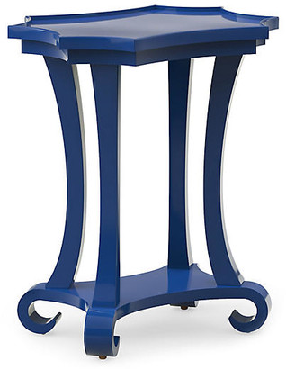 Bunny Williams Home Mavi Lacquer Side Table - Blue