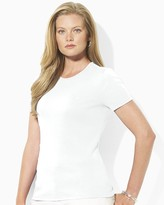 Lauren Ralph Lauren Plus Ribbed Crew Neck Tee