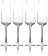 Mikasa Lux Gold Set of 4 Champagne Flutes