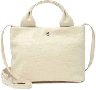 Elizabeth and James Teddy Embossed Leather Zip Top Shoulder Bag