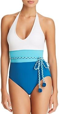 Vince Camuto Color-Block One Piece Swimsuit