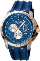 Ferré Milano Men's Dark Blue Mother-Of-Pearl Dial Watch.