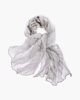 Chico's Silver Sweet Pleated Scarf