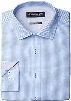 Nick Graham Men's Cotton Poplin Dress Shirt