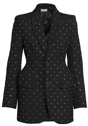 Balenciaga Embellished Hour-Glass Wool Jacket