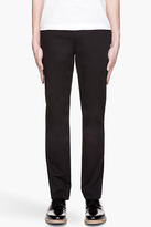 John Varvatos Black Relaxed Fit Flight trousers