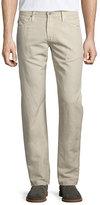 AG Jeans Graduate Sulfur Linen/Cotton Jeans, Desert Taupe