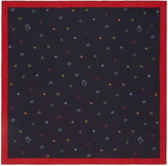 Gucci Symbols silk pocket square
