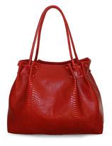 Julie K Handbags Laura in Red Cobra