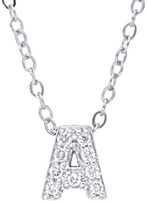 Nephora 14K Diamond Block Initial A-Z Necklace