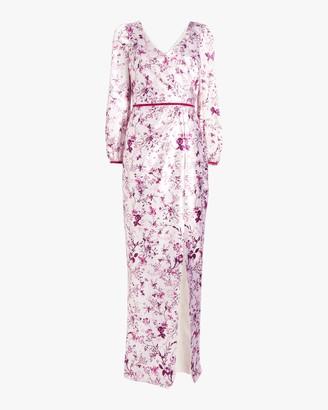 Marchesa Notte Bishop-Sleeve Charm Gown