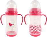 Nurtria 2 Piece Classic Training Bottle, Pink Bird, 9 Ounce by Nurtria