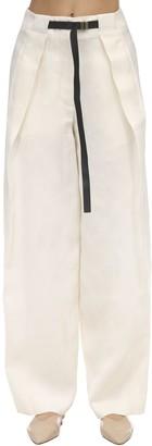 The Row Brona Silk & Linen Canvas Pants