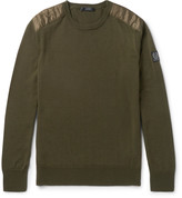 Belstaff Kerrigan Quilted Shell-Trimmed Virgin Wool Sweater