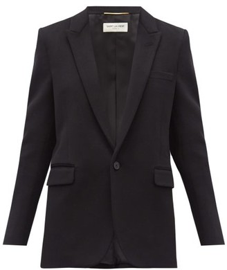 Saint Laurent Single-breasted Virgin-wool Blend Jacket - Black