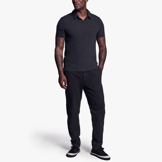 James Perse Brushed Stretch Jersey Polo