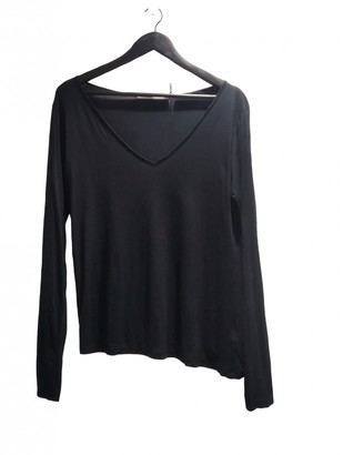 Superfine Black Cotton Top for Women