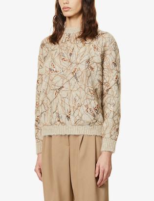 Brunello Cucinelli Sequin-embellished mohair-blend jumper
