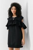 MM6 MAISON MARGIELA MM6 Ruffle Mini Dress - Black S at Urban Outfitters