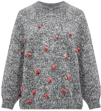 Vika Gazinskaya Oversized Bobble-stitch Sweater - Womens - Grey Multi