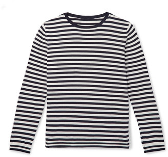 Anderson & Sheppard Striped Cotton Sweater - Blue