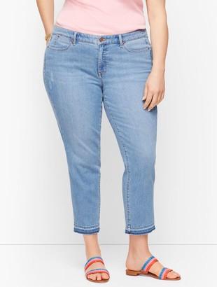 Talbots Straight Leg Crop Jeans - Dropped Hem Foster Wash