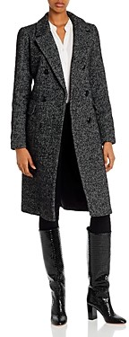 Vero Moda Highland Herringbone Tweed Long Coat