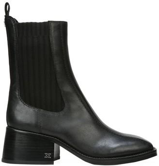 Sam Edelman Dasha Square-Toe Leather Chelsea Boots