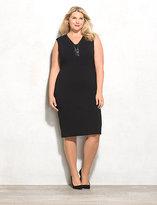 dressbarn BEYOND by Ashley Graham Lace-Up Dress Plus