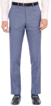 Tallia Men's Slim-Fit Stretch Blue Plaid Suit Pants