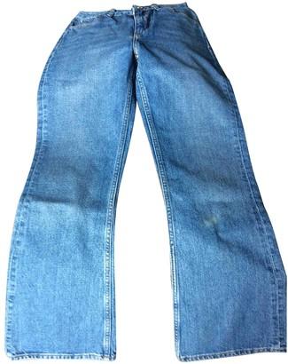 Sandro Spring Summer 2019 Blue Cotton Jeans for Women