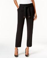 Calvin Klein Straight-Leg Hardware-Detail Pants