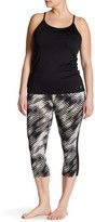 Electric Yoga Printed Mesh Capri (Plus Size)