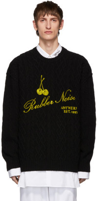 Raf Simons Black Wool Aran Sweater